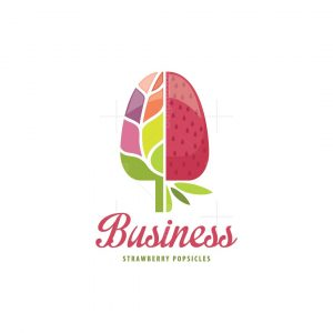 Strawberry Healthy Popsicles Logo