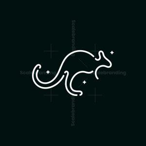 Stylish Kangaroo Logo