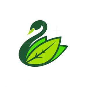Swan Leaves Nature Logo