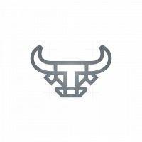 Letter T Taurus Logo