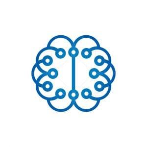 Technology Brain Logo Cyber Mind Logo
