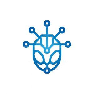 Technology Alien Logo Cyber Alien Logo