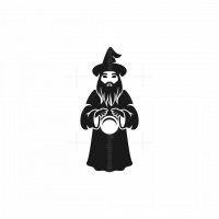 Wizard Silhouette Logo