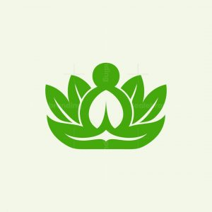 Yoga Leaf Nature Logo