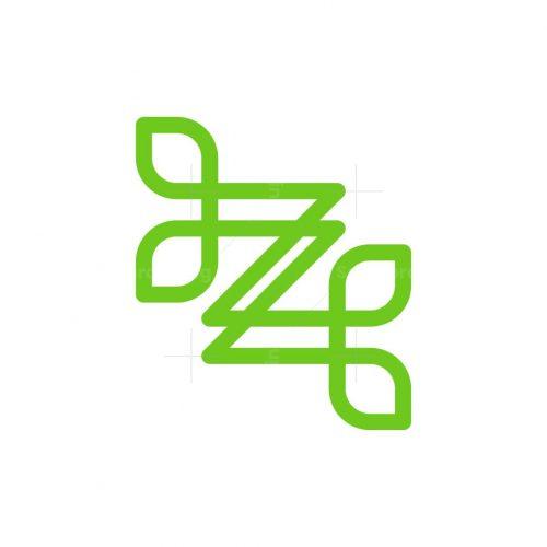 Letter Z Leaf Line Logo