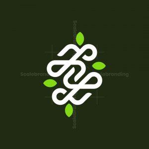 Letter Z Leaf Loop Monogram Logo