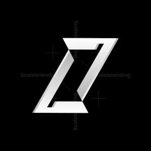 Letter Z Metallic Logo