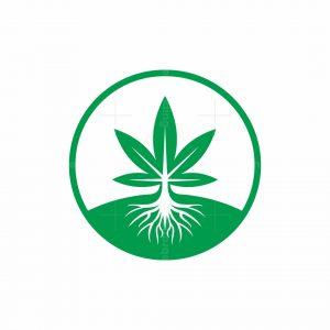 Cannabis Roots Circle Logo