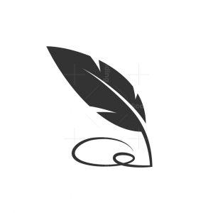 Q Quill Pen Logo