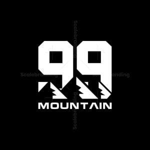 Letter 99 Mountain Logo