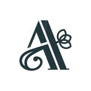A Letter Flower Logo