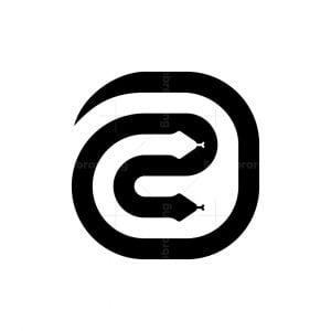 Letter Ae Snake Logo