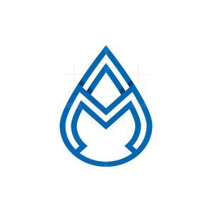 Letter Am Drop Logo