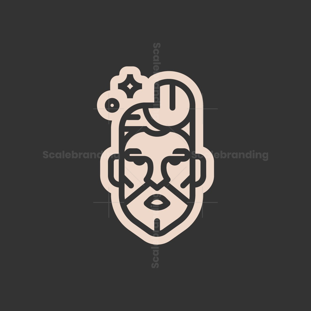 Handsome Barber Man Logo