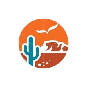 Beautiful Desert Scene Logo