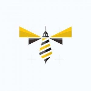 Bee Lighthouse Logo