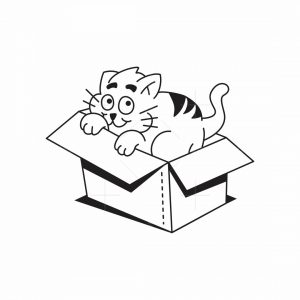 Cardboard Cat Logo Box
