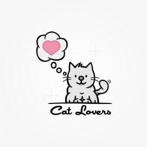 Grey Cat Love Logo