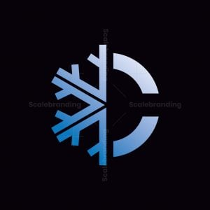 C Letter Snowflake Logo