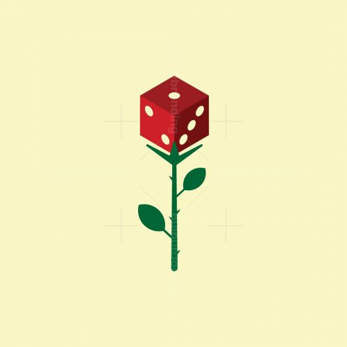 Cute Dice Rose Logo