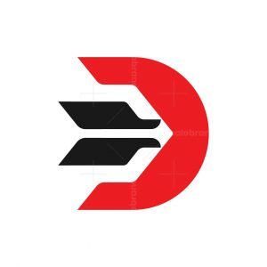 Letter D Target Logo