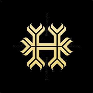 Decorative Letter H Logo