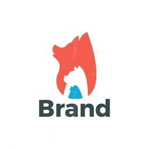 Dog Cat Bird Pets Logo