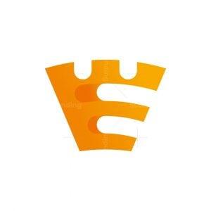 E Letter Fortress Logo