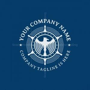 Ship Steering Eagle Logo