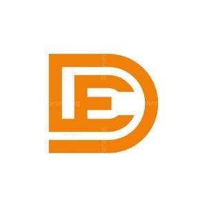 D And E Letter Logo