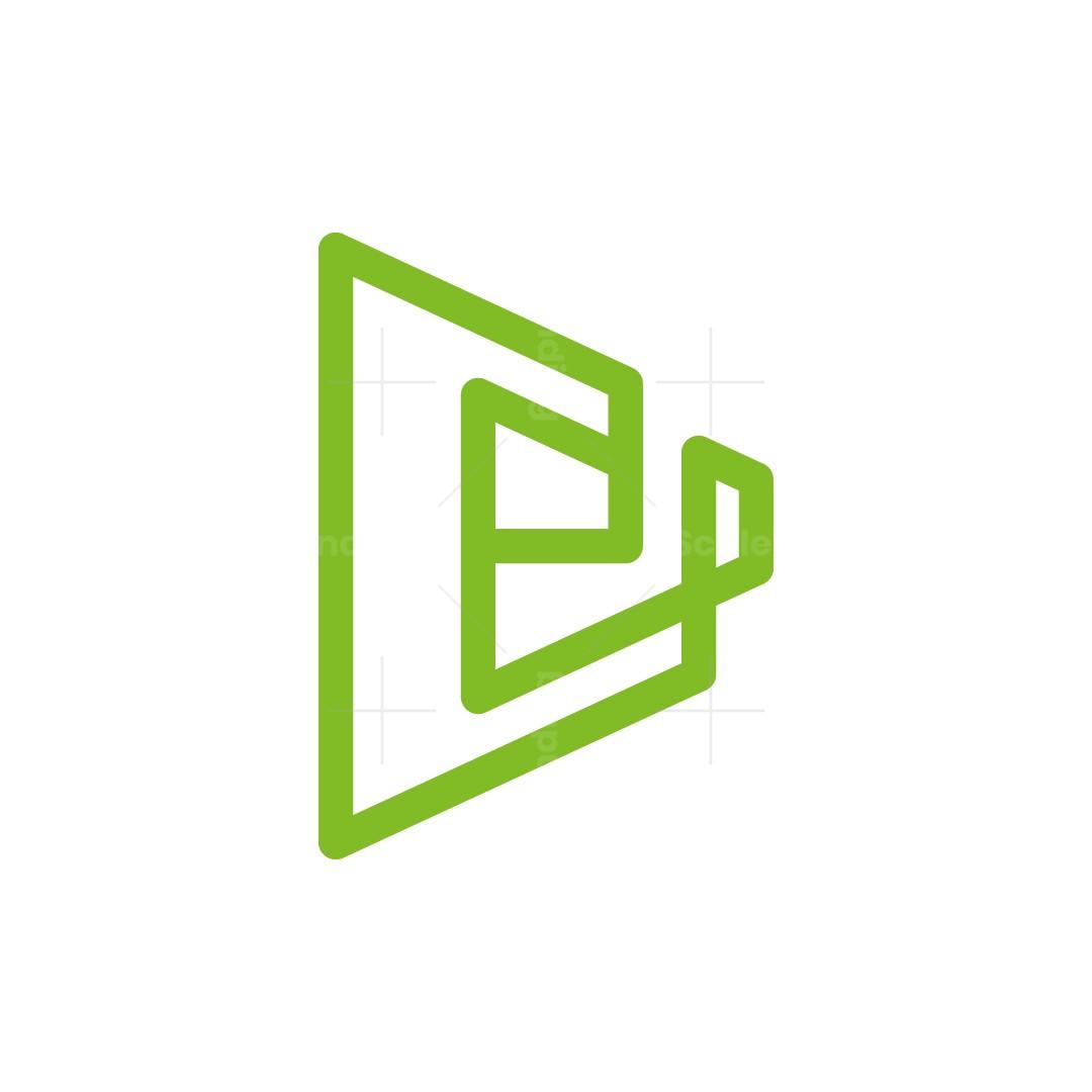 E Letter Line Logo