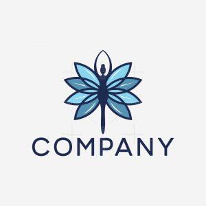 Flower Butterfly Woman Logo