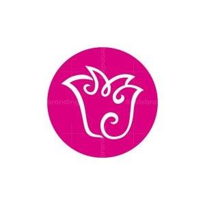 Flower Letter M Logo