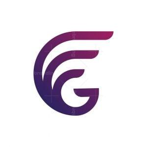 Letter G Wings Logo