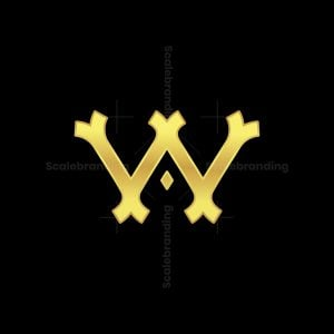 Gold W Or Wa Letter Logos