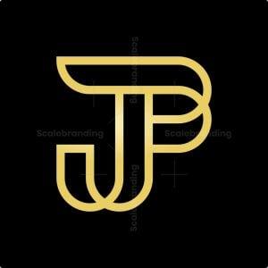 Golden Jp Monogram Logo