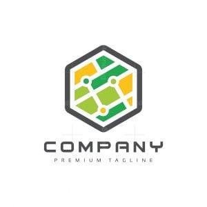 Hexagon Map Logo