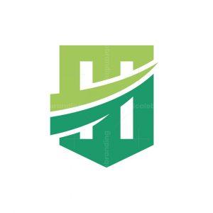 H Letter Shield Logo