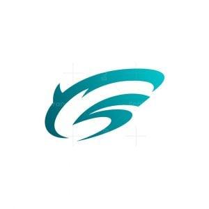 Initial S Shark Logo