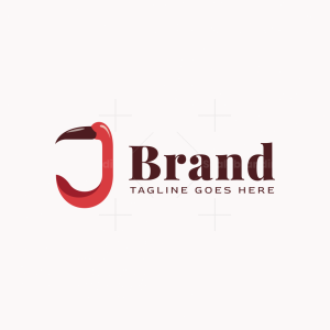 Letter J Flamingo Logo