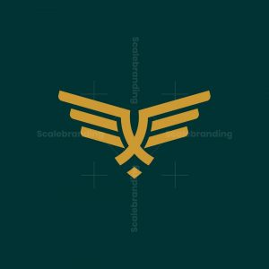 Letter X Flying Logo