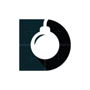 Letter D Bomb Logo