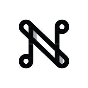 Letter N Loop Logo