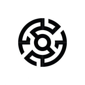 Letter S Labyrinth Logo