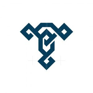 Letter T Nordic Diamond Logo