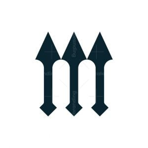 Letter M Three Spear Logo