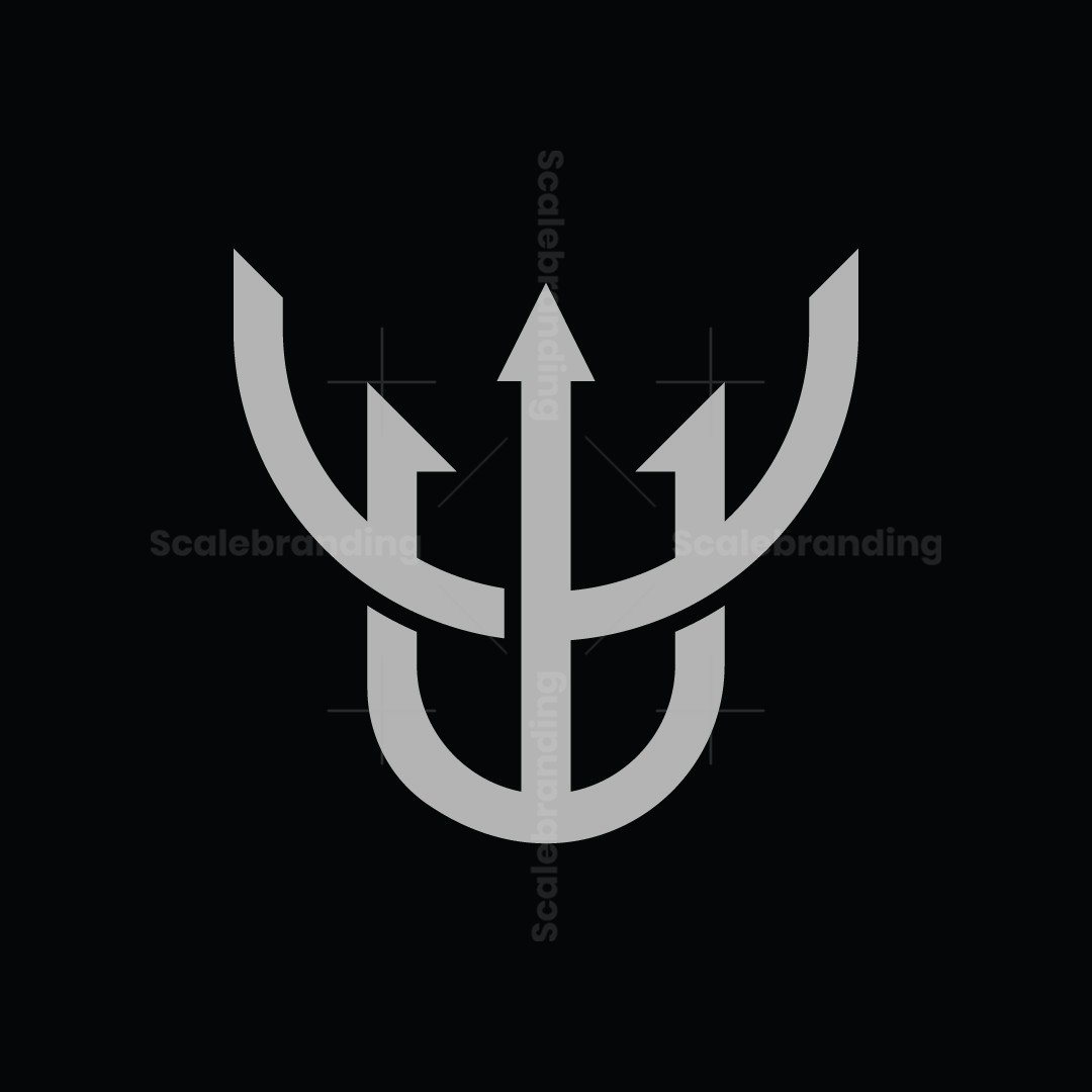 Abstract Trident Deer Logo