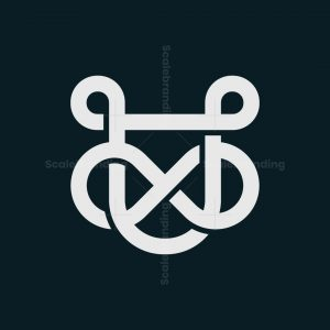 Letter U Loop Infinity Logo