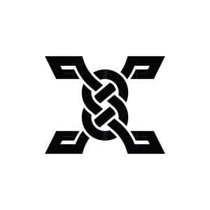Letter X Knot Logo