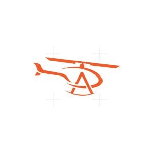 Letter A Helicopter Logo